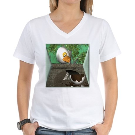 Humpty Dumpty Women's V-Neck T-Shirt