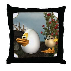 HD and Coutchie-Coulou Throw Pillow