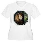 King of the Jungle Women's Plus Size V-Neck T-Shir
