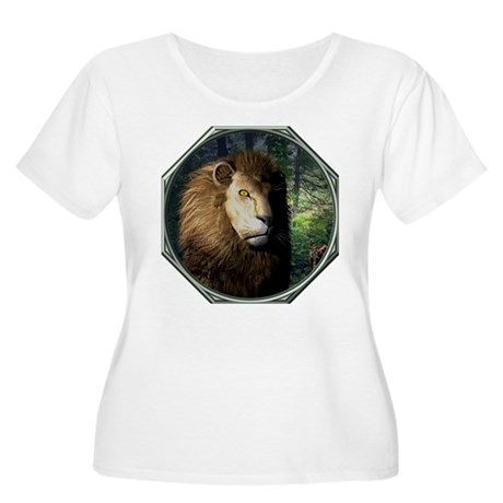 King of the Jungle Women's Plus Size Scoop Neck T-