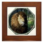 King of the Jungle Framed Tile