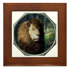 King of the Jungle Framed Tile