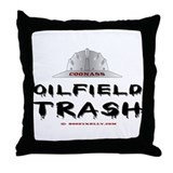 Coonass Oilfield trash Throw Pillow