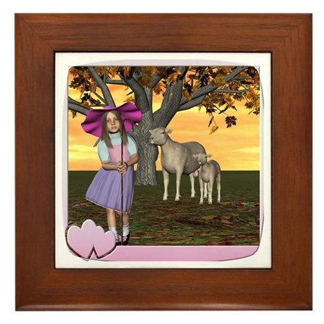 Little Bo-Peep Framed Tile