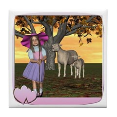 Little Bo-Peep Tile Coaster