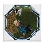 LBB - Asleep in the Hay! Tile Coaster