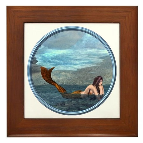 The Little Mermaid Framed Tile
