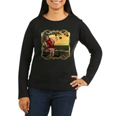 Little Miss Muffet Women's Long Sleeve Dark T-Shir