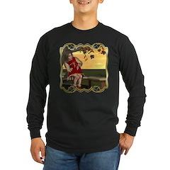 Little Miss Muffet Long Sleeve Dark T-Shirt