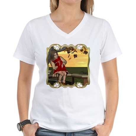 Little Miss Muffet Women's V-Neck T-Shirt