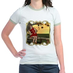 Little Miss Muffet Jr. Ringer T-Shirt