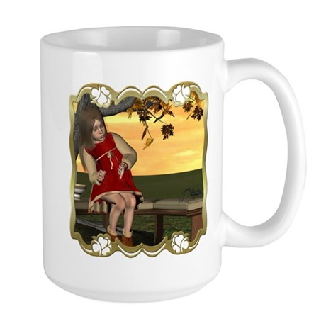 Little Miss Muffet Large Mug