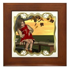 Little Miss Muffet Framed Tile