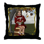 Little Miss Tucket Throw Pillow