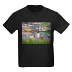 Lilies2-Am.Hairless T Kids Dark T-Shirt