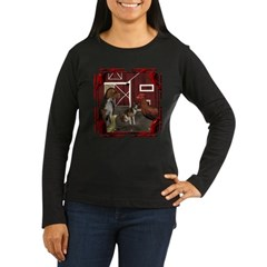 The Little Red Hen Women's Long Sleeve Dark T-Shir