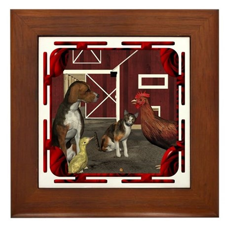 The Little Red Hen Framed Tile