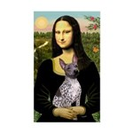 MonaLisa - AmHairless T. Sticker (Rectangle)