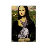 MonaLisa - AmHairless T. Rectangle Magnet (10 pack