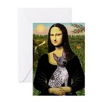 MonaLisa - AmHairless T. Greeting Card