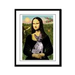 MonaLisa - AmHairless T. Framed Panel Print