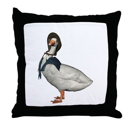 Mother Goose (The Goose) Throw Pillow