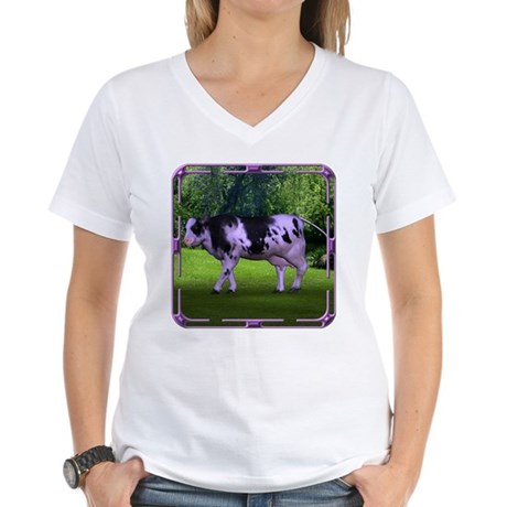 The Purple Cow Women's V-Neck T-Shirt