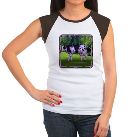 The Purple Cow Women's Cap Sleeve T-Shirt