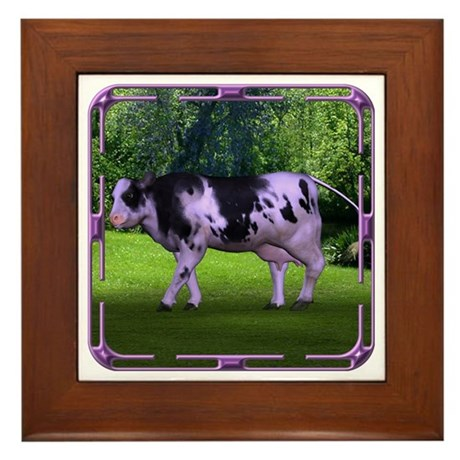 The Purple Cow Framed Tile