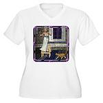 Pussycat, Pussycat Women's Plus Size V-Neck T-Shir