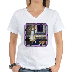 Pussycat, Pussycat Women's V-Neck T-Shirt