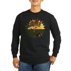 Robin Redbreast Long Sleeve Dark T-Shirt