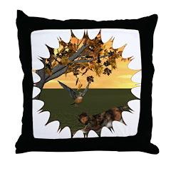 Robin Redbreast Throw Pillow