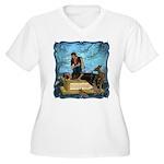 Snow White Women's Plus Size V-Neck T-Shirt