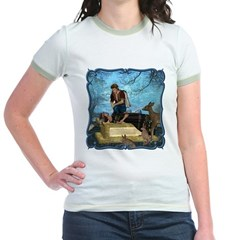 Snow White Jr. Ringer T-Shirt