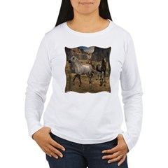 Southwest Horses Women's Long Sleeve T-Shirt