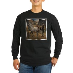 Southwest Horses Long Sleeve Dark T-Shirt
