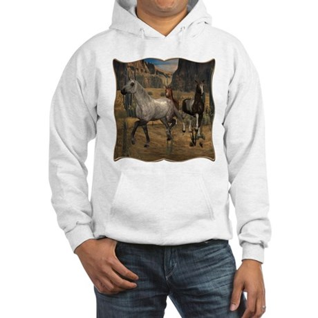 Southwest Horses Hooded Sweatshirt