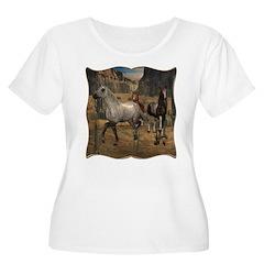 Southwest Horses Women's Plus Size Scoop Neck T-Sh