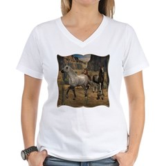 Southwest Horses Women's V-Neck T-Shirt
