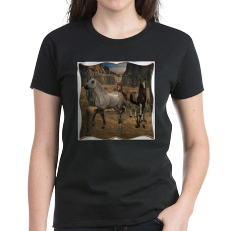 Southwest Horses Women's Dark T-Shirt
