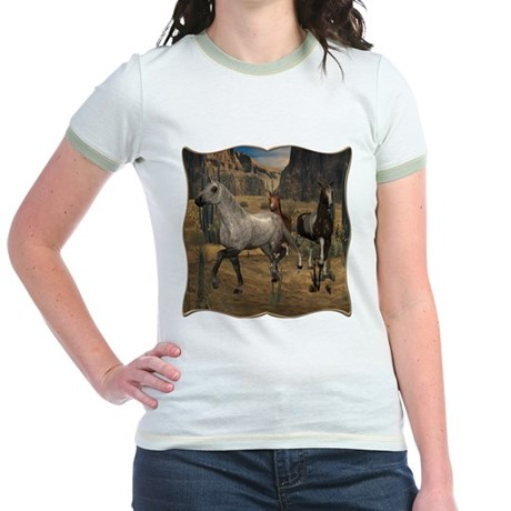 Southwest Horses Jr. Ringer T-Shirt