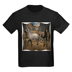 Southwest Horses Kids Dark T-Shirt