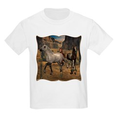 Southwest Horses Kids Light T-Shirt