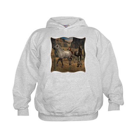 Southwest Horses Kids Hoodie