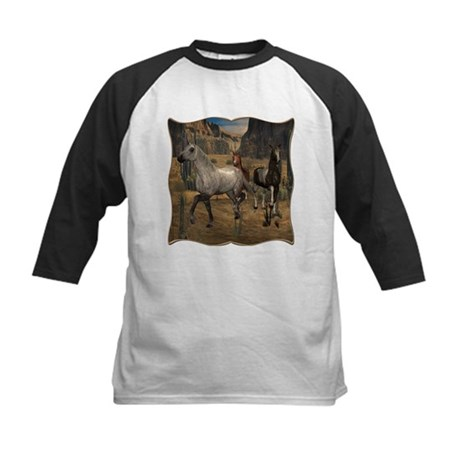 Southwest Horses Kids Baseball Jersey
