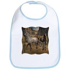 Southwest Horses Bib
