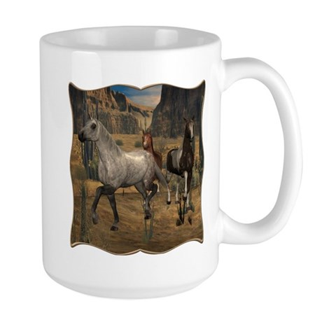 Southwest Horses Large Mug