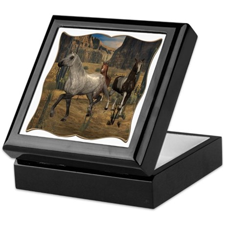 Southwest Horses Keepsake Box