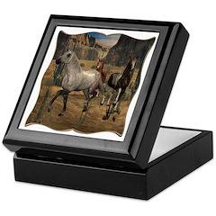 Southwest Horses Keepsake Box